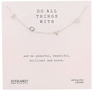 Dogeared Do All Things with Love Love Letter Choker Necklace
