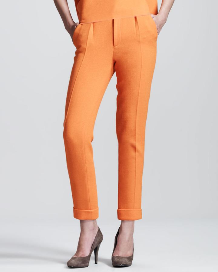 Roland Mouret Carillon Double-Face Crepe Trousers