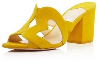 Isa Tapia Women's Amor Suede Heart Cutout Slide Sandals