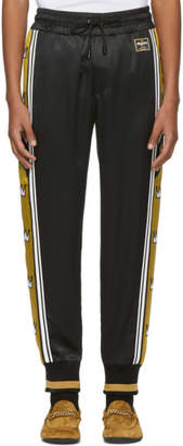 Dolce & Gabbana Black and Gold Crowns Lounge Pants