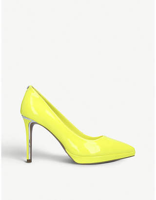DKNY Lexi faux-leather heeled courts