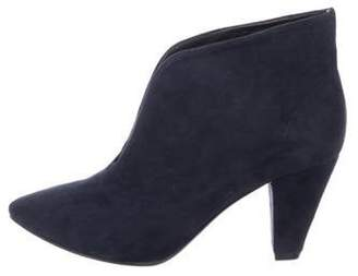 Anine Bing Suede Ankle Boots Navy Suede Ankle Boots