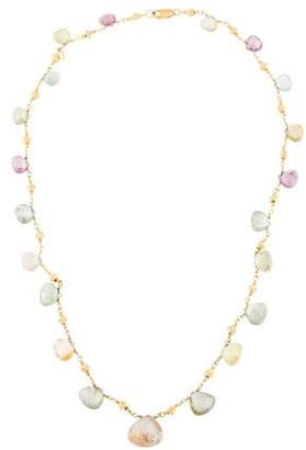 18K Multicolored Sapphire Station Necklace