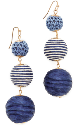 Shashi Matilda Striped Earrings $45 thestylecure.com