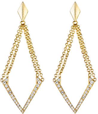 She Adorns Double Chain V-Earrings