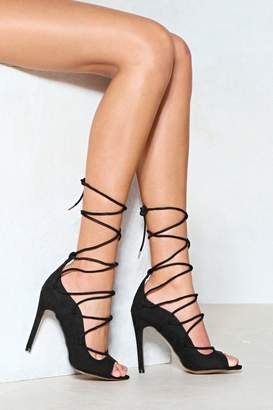 Nasty Gal You're a Catch Lace-Up Heel