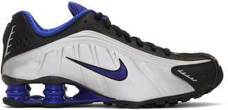 Nike Black and Silver Shox 4 Sneakers