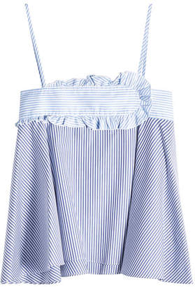 Carven Striped Cotton Camisole