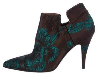 Gianfranco Ferre Canvas Pointed-Toe Booties