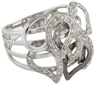 Ring 14K Diamond Paisley