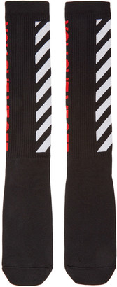 Off-White Black 'You Cut Me Off' Socks $45 thestylecure.com