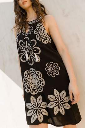 Thml Clothing Embroidered Halter Dress