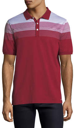 Michael Kors Striped Polo Shirt