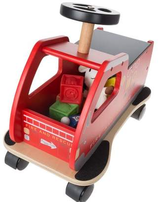 Zoomie Kids Eulalia Ride on Fire Truck Toy Box