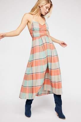 The Endless Summer Donna Plaid Maxi Dress