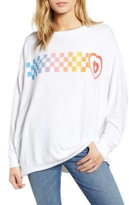 Wildfox Couture Roadtrip - Racer Check Sweatshirt
