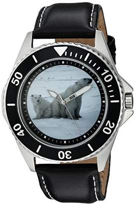EWatchFactory Men's 'Animal Planet' Quartz Stainless Steel Sport Watch