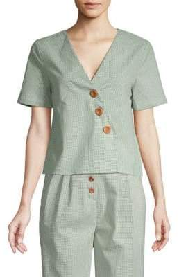 ENGLISH FACTORY Gingham Cotton Blouse