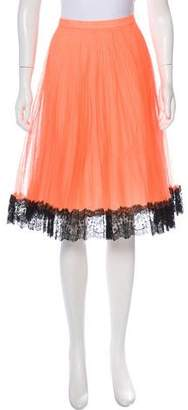 Christopher Kane Pleated A-Line Skirt w/ Tags