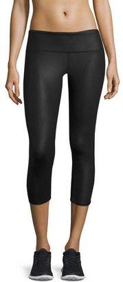 Alo Yoga Airbrush Glossy Capri Sport Leggings $68 thestylecure.com