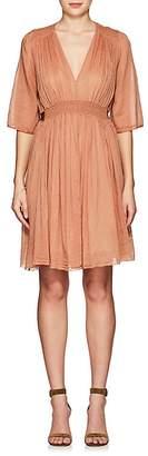 Giada Forte Women's Belted Cotton-Silk Voile Minidress