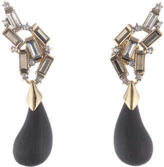 Alexis Bittar Climbing Crystal Baguette Post With Dangling Dewdrop Earring