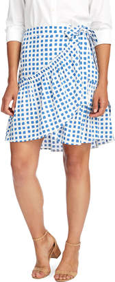 Vineyard Vines Painterly Grid Wrap Skirt