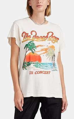 "MadeWorn Women's ""Beach Boys"" Cotton T-Shirt - White"