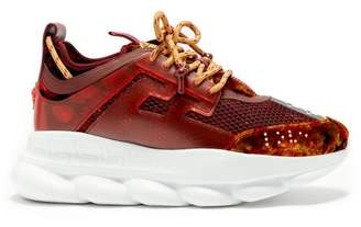 Versace - Chain Reaction Trainers - Mens - Burgundy