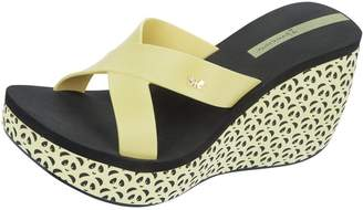 Ipanema Cruise Wedge Womens Flip Flops / Sandals - Yellow Black-8