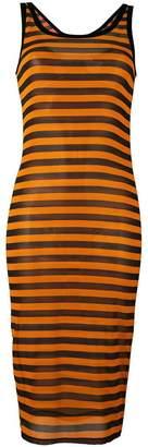 Givenchy semi-sheer striped dress