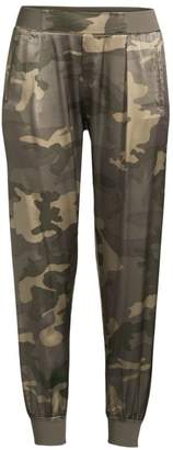 ATM Anthony Thomas Melillo Camo-Print Silk Joggers