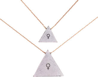 Article22 ARTICLE 22 Mother Daughter Triangle Necklace Set