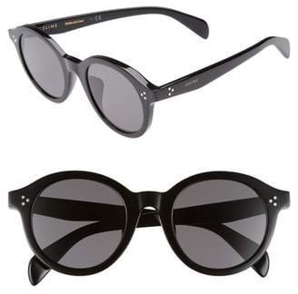Celine Special Fit 50mm Round Sunglasses