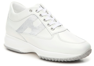 Final Sale - Hogan Iridescent Lace-Up Sneaker $475 thestylecure.com