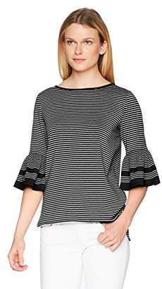 Max Studio Women's French Terry Bell Sleeve Top