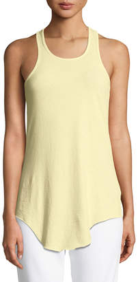 Frank And Eileen Base Layer Scoop-Neck Cotton Tank, Yellow