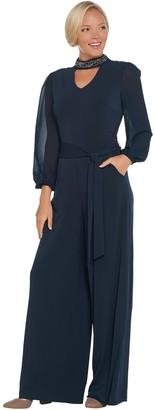 Lisa Rinna Collection Sheer Sleeve Jumpsuit