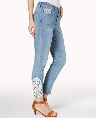 Style&Co. Style & Co Crochet Ankle Skinny Jeans, Created for Macy's