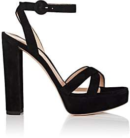 Gianvito Rossi Women's Suede Platform Sandals - Black