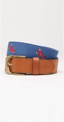 J.Mclaughlin Ashton Embroidered Belt in Lobster