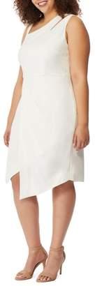 Rebel Wilson X Angels Asymmetrical Cutout Sheath Dress