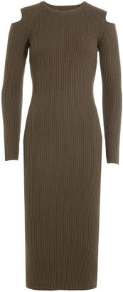 Theory Wool Dress with Cut-Out Shoulders