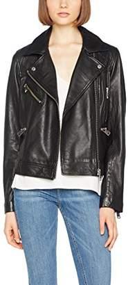 Liebeskind Berlin Women's H1175090 Jacket, (Oil Black 9895), Medium