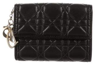 Christian Dior Cannage Compact Wallet