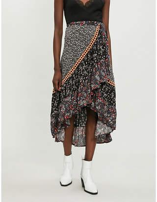 Free People Esmerelda floral wrap maxi skirt
