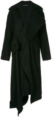 Yohji Yamamoto asymmetric structured coat