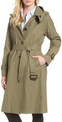 MICHAEL Michael Kors Hooded Trench Coat