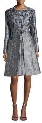 St. John Metallic Jacquard Topper Jacket