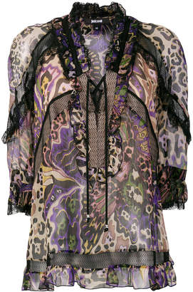 Just Cavalli patterned blouse